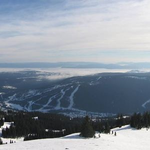 View from Crystal Chair , tod Mountain , Sun peaks resort BC canada