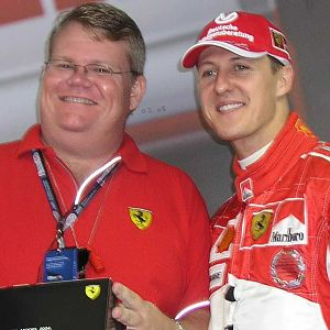 Peter Spann and Michael Schumacher at F1