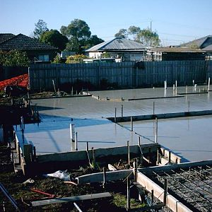 Roberts St : 4b concrete in progress