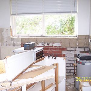 Walsh St Kitchen during removal
