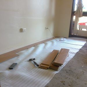 Preparation for Laminated flooring