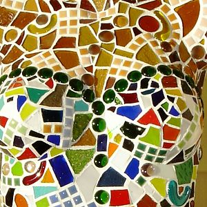 Bodice with tiles