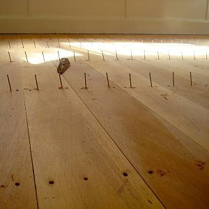 Nail in every board at every joist - backbreaking