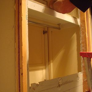 mirror cabinet in wall cavity