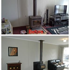 Before and after pics from our July 2013 reno in Tassie