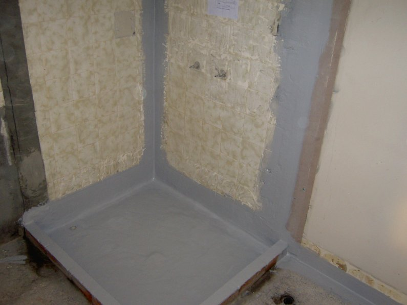 Shower area - waterproofed and hob 2